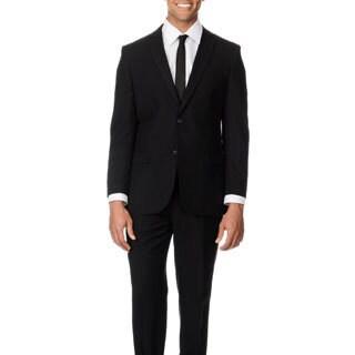 Caravelli Italy Men's Slim Fit Black 2-button Notch Lapel Suit
