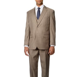 Caravelli Italy Men's 'Superior 150' Tan 3-piece Vested Suit