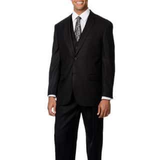 Caravelli Italy Men's 'Superior 150' Black Shark Pattern 3-piece Vested Suit|https://ak1.ostkcdn.com/images/products/8816586/Caravelli-Italy-Mens-Superior-150-Black-Shark-Pattern-3-piece-Vested-Suit-P16050713.jpg?impolicy=medium