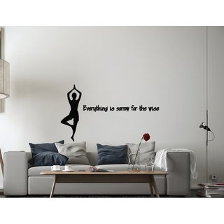 Yoga Quote Wall Vinyl Decal Art
