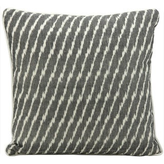 Mina Victory Lifestyle Ikat Black Throw Pillow (18-inch x 18-inch) by Nourison
