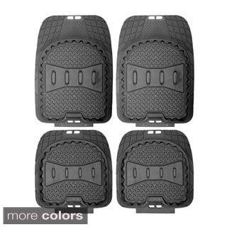 Oxgord A-Style Rugged 4-piece PVC Floor Mat Set