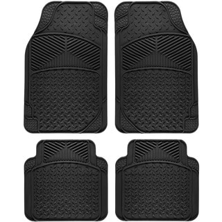 Oxgord Tail Fin Style Rugged 4-piece PVC Floor Mat Set
