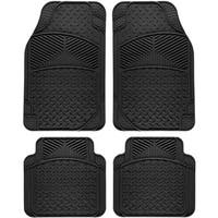 Oxgord Tail Fin Style Rugged 4-piece PVC Floor Mat Set