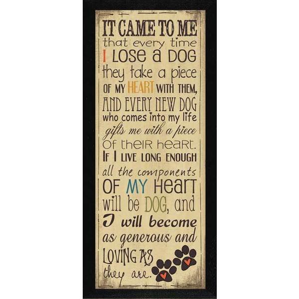 Jo Moulton 'I Heart My Dog' Framed Wall Art