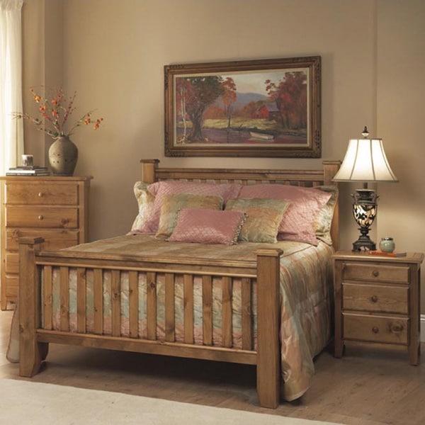 Shop Emerald Pine Creek Rustic 3-piece Bedroom Set