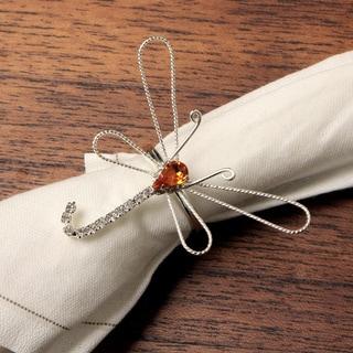 Detti Originals Crystal Dragonfly Napkin Rings (Set of 4)