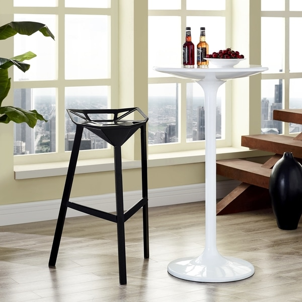 Launch Black Bar Stool Stacking Chair
