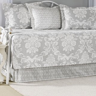 Laura Ashley Venetian Grey 5-piece Cotton Daybed Set