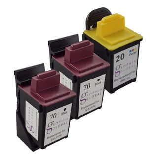 Sophia Global Lexmark 70 and Lexmark 20 3-piece Remanufactured Ink Cartridge Set