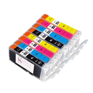Sophia Global Canon CLI-251XL Compatible 8-piece Ink Cartridge Replacement Set