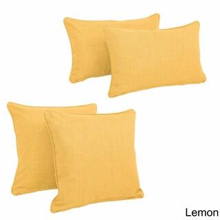 Blazing Needles Indoor/Outdoor Throw Pillow Set (Set of 4)