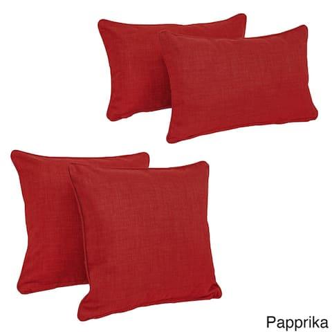 Blazing Needles Delaney Indoor/Outdoor Throw Pillow Set (Set of 4)