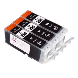 Sophia Global Canon PGI-250XL Compatible Black Ink Cartridge Replacements (Pack of 3)