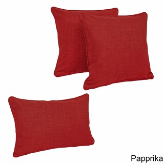 Blazing Needles 3-Piece Indoor/Outdoor Throw Pillow Set (More options available)