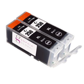 Sophia Global Canon PGI-250XL Compatible Black Ink Cartridge Replacements (Pack of 2)