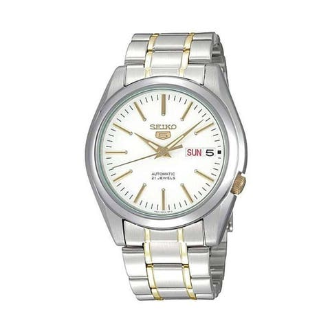 Seiko Men's 5 Silver/ Gold Watch