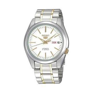 Seiko Men's 5 Silver/ Gold SNKL47K1 Watch
