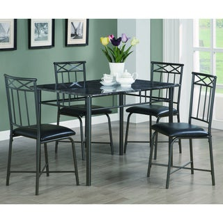 Coaster Company Dark Grey Metal/ Faux Marble 5-piece Dining Set
