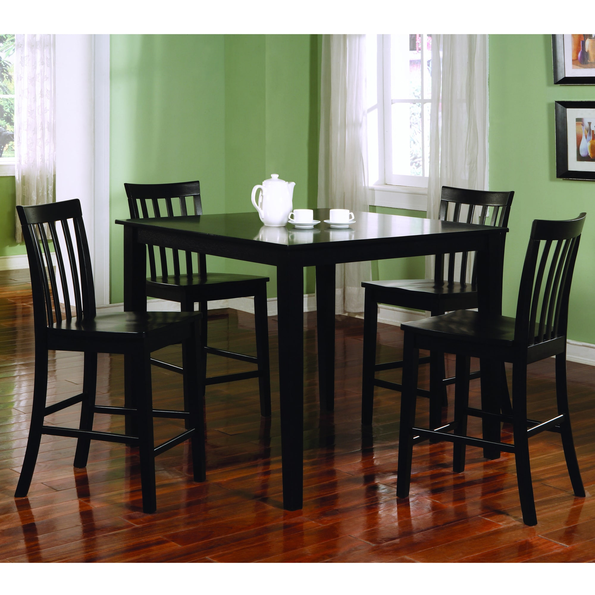 Coaster Furniture Ashland Black Counter Height 5-piece Di...