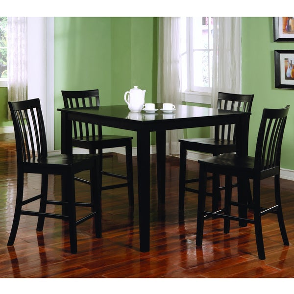 Coaster Company Ashland Black Counter Height 5 Piece Dining Set