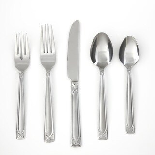 Cambridge Crossroad Stainless Steel 60-piece Flatware Set