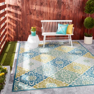 Waverly Sun N' Shade Sweet Things Marine Area Rug by Nourison (7'9 x 10'10)
