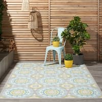 Waverly Sun N' Shade by Nourison Jade Indoor/Outdoor Rug - 7'9 x 10'10