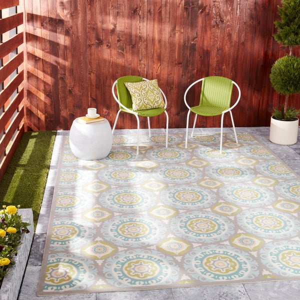 Waverly Sun N' Shade by Nourison Jade Indoor/Outdoor Rug - 7'9 x 10'10