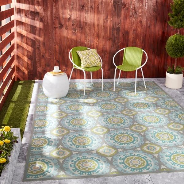 Shop Waverly Sun N Shade Jade Indoor Outdoor Rug By Nourison 7 9