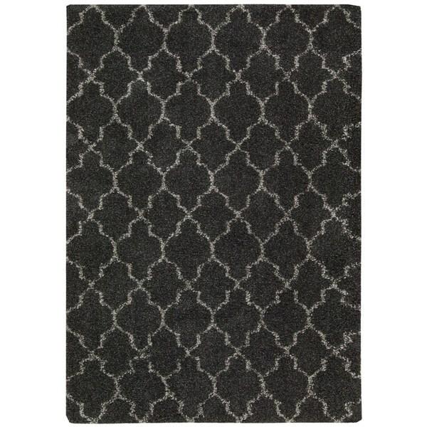 Nourison Amore Charcoal Shag Area Rug - 7'10 x 10'10