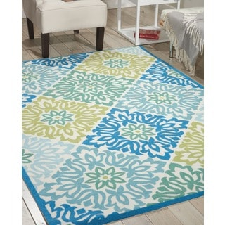 Waverly Sun N' Shade Sweet Things Marine Area Rug by Nourison (5'3 x 7'5)
