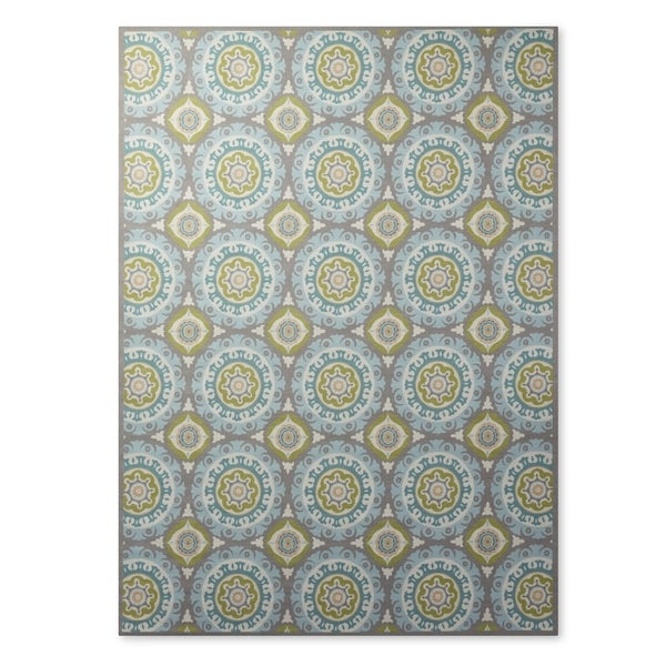 Yellow And Blue Medallion Indoor Outdoor Area Rug Rug 5 3