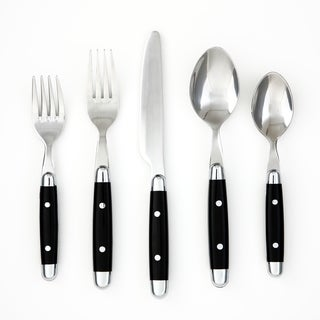 Cambridge 'Jubilee' Black 20-piece Flatware Set