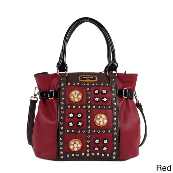 Nicole Lee 'Daysha' Flowery Embellished Shoulder Bag