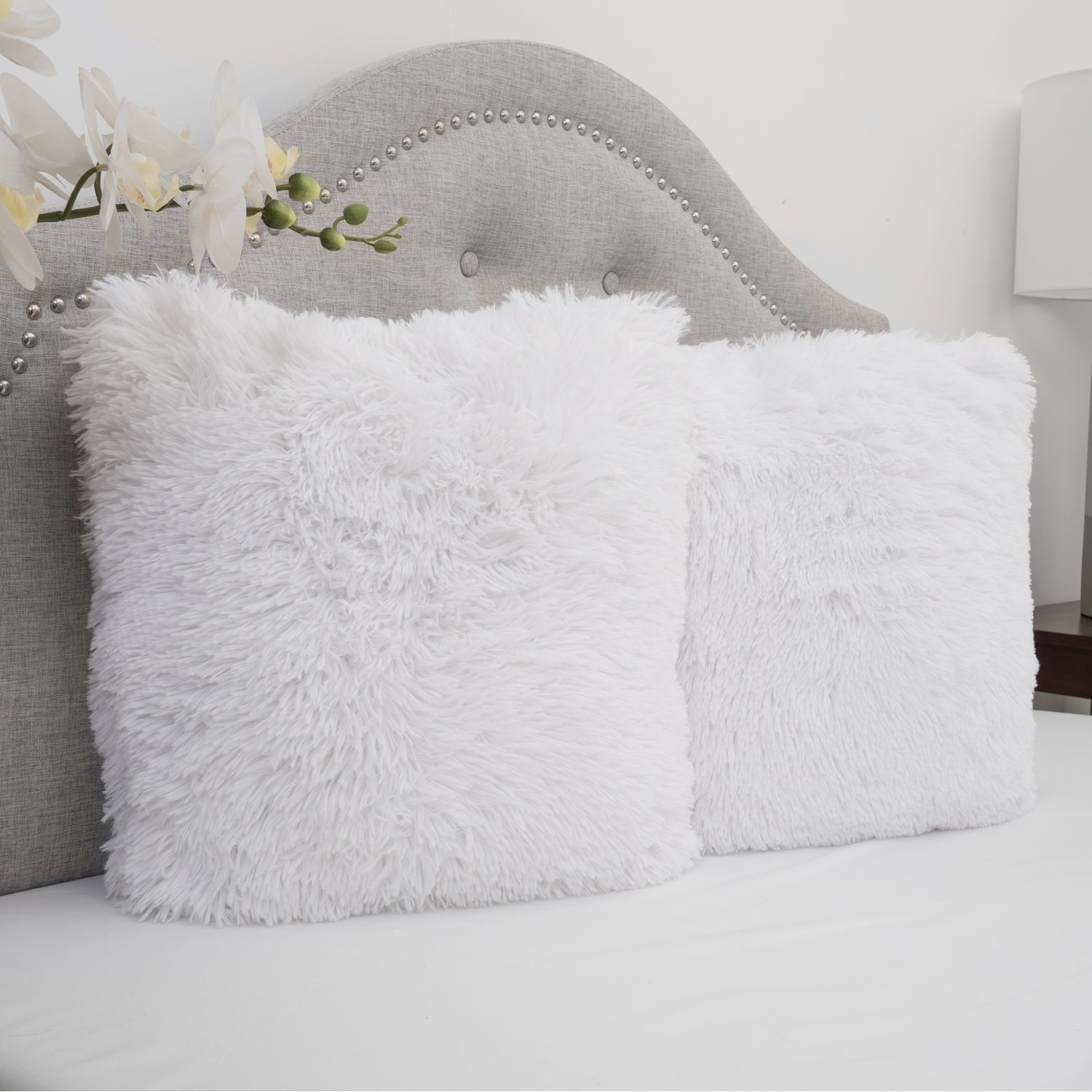 Shop Faux Fur 18 Inch Decorative Throw Pillows (set of 2