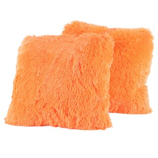 Colorful Plush 2-piece Throw Pillows Set (More options available)