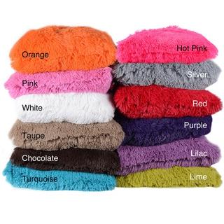 Colorful Plush Throw Pillows (Set of 2)
