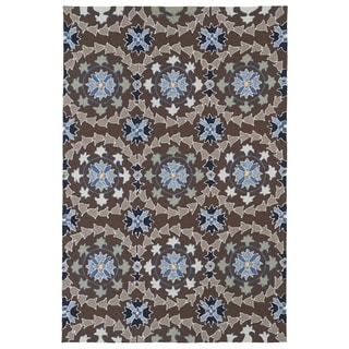Indoor/ Outdoor Fiesta Brown Rug (2' x 3')