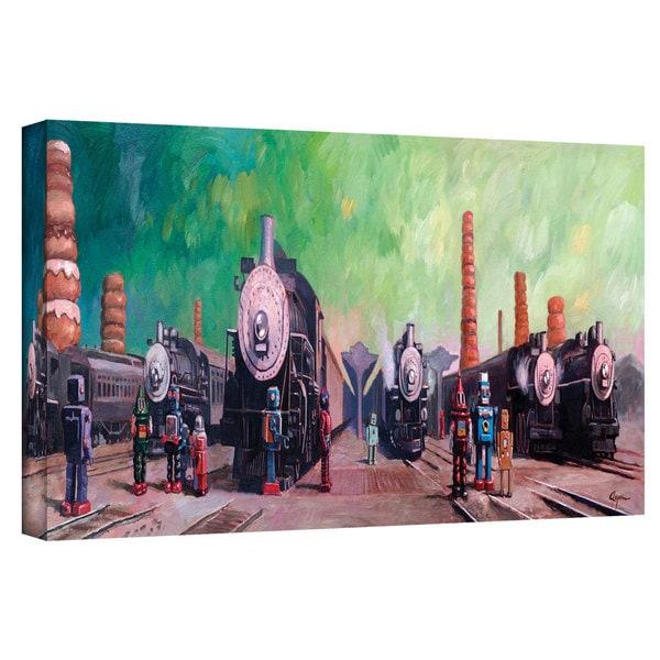 Eric Joyner 'Trainyard' Gallery-wrapped Canvas Art - Multi