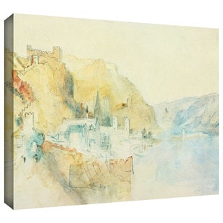 William Turner 'On The Rhine' Gallery-wrapped Canvas Art
