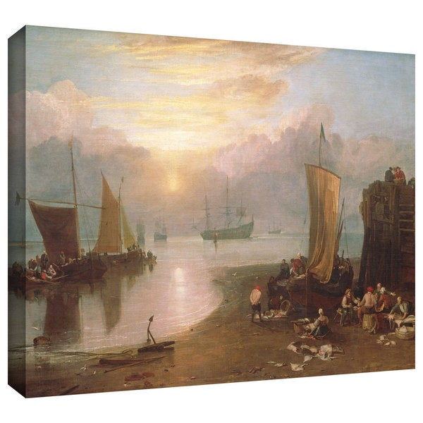 William Turner 'Sun Rising Through Vapour, Fisherman Cleaning and Selling Fish' Gallery-wrapped Canvas Art