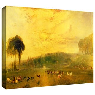 William Turner 'Sunset, Fighting Bucks' Gallery-wrapped Canvas Art