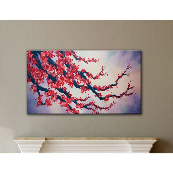Shiela Gosselin 'Red Cherry Blossom' Gallery-wrapped Canvas Art