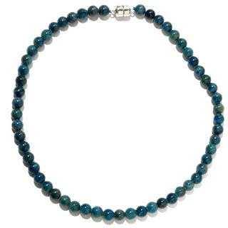 Sterling Silver Apatite Bead Necklace (18 or 36 inches)|https://ak1.ostkcdn.com/images/products/8817318/Sterling-Silver-Apatite-Bead-Necklace-18-or-36-inches-P16051299.jpg?impolicy=medium