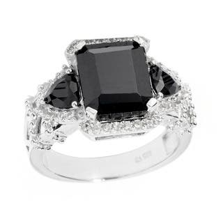 Sterling Silver White Topaz and Black Spinel Ring|https://ak1.ostkcdn.com/images/products/8817328/P16051308.jpg?impolicy=medium