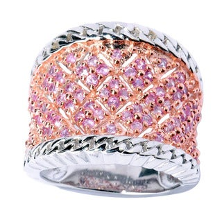 Sterling Silver Pink Sapphire Fashion Band Ring