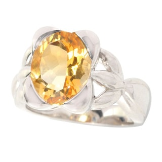 Sterling Silver Citrine Fashion Ring