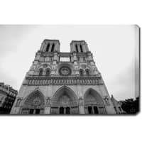 'Notre Dame de Paris' Gallery-wrapped Photography Canvas Art