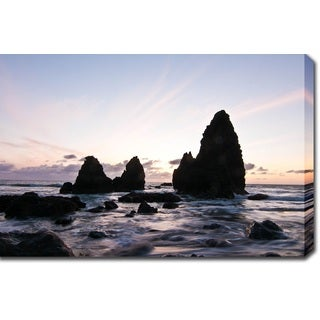 'Sunrise in Point Reyes, San Francisco II' Gallery-wrapped Photography Canvas Art